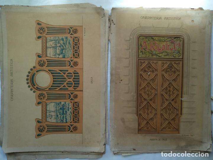 Libros: Carpintería artística. Andrés Audet y Puig año 1900-1930 - Foto 7 - 167826472