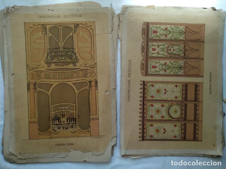 Libros: Carpintería artística. Andrés Audet y Puig año 1900-1930 - Foto 8 - 167826472