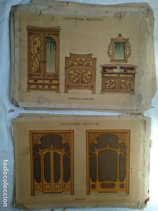 Libros: Carpintería artística. Andrés Audet y Puig año 1900-1930 - Foto 9 - 167826472