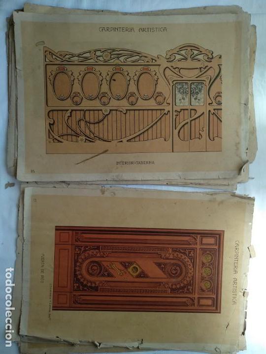Libros: Carpintería artística. Andrés Audet y Puig año 1900-1930 - Foto 10 - 167826472