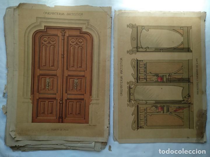 Libros: Carpintería artística. Andrés Audet y Puig año 1900-1930 - Foto 12 - 167826472