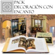 Libros: PACK DECORACIÓN CON ENCANTO. 3 LIBROS - VARIOS AUTORES (CARTONÉ) DESCATALOGADO!!! OFERTA!!!. Lote 198616448