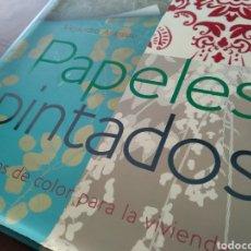 Libros: LIBRO ILUSTRATIVO PAPELES PINTADOS. Lote 223037658