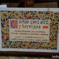 Libros: CARLOS GONZALEZ Y HERMANO.ORNAMENTACION CON CERAMICA,HIERROS Y DIVERSOS MAT. ARTISTICOS. Lote 265769344