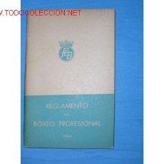 Coleccionismo deportivo: REGLAMENTO DEL BOXEO PROFESIONAL...AÑO 1944.. Lote 837611