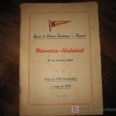 Coleccionismo deportivo: GRUPO DE CULTURA COVADONGA MEMORIA-HISTORIAL DE SU PRIMERA ETAPA 1938-1950. Lote 6836727