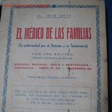 Coleccionismo deportivo: MEDICINA NATURAL. EL MÉDICO DE LAS FAMILIAS. 1.925. Lote 26294241