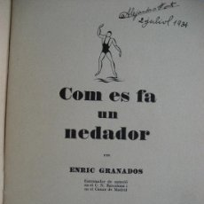 Coleccionismo deportivo: COM ES FA UN NEDADOR. ENRIC GRANADOS. 1934. 25 PAGS. EN CATALAN. Lote 23569406