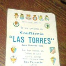 Coleccionismo deportivo: CALENDARIO TEMPORADA 1982 - 83.CONFITERIA LAS TORRES DE SAN FERNANDO, CADIZ. *. Lote 14024366