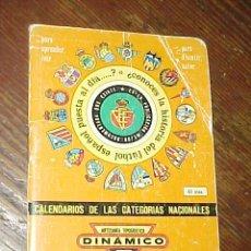 Coleccionismo deportivo: DINAMICO. 1983 - 1984. CALENDARIOS DE LAS CATEGORIAS NACIONALES. *. Lote 14024472