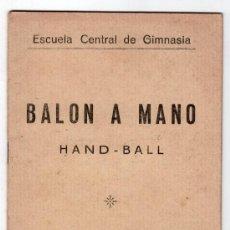 Coleccionismo deportivo: BALONMANO TOLEDO 1929. REGLAMENTO. . Lote 16422817