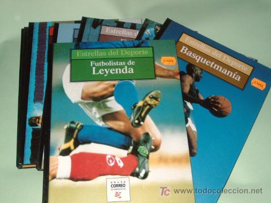 LOTE 8 LIBROSCOLECCION ESTRELLAS DEL DEPORTE (Coleccionismo Deportivo - Libros de Deportes - Otros)