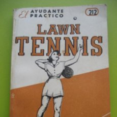 Coleccionismo deportivo: TENIS. LAWN TENNIS. ED. COSMOPOLITA. 1954. Lote 22560686