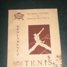 Coleccionismo deportivo: REGLAMENTO DE TENIS AÑO 1943.ESCUELA CENTRAL DE EDUCACIÓN FÍSICA. 40 PÁGINAS.. Lote 27242932
