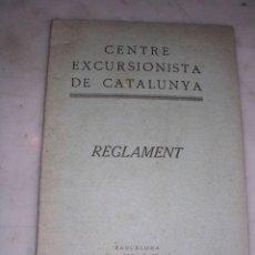 Coleccionismo deportivo: CENTRE EXCURSIONISTA DE CATALUNYA-REGLAMENT-BARCELONA 1929-16 PAG- 15X11 CM. . Lote 17659618