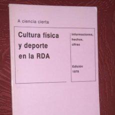 Coleccionismo deportivo: CULTURA FÍSICA Y DEPORTE EN LA RDA (INFORMACIONES, HECHOS, CIFRAS) EN DRESDEN, EDICIÓN 1978. Lote 25888734
