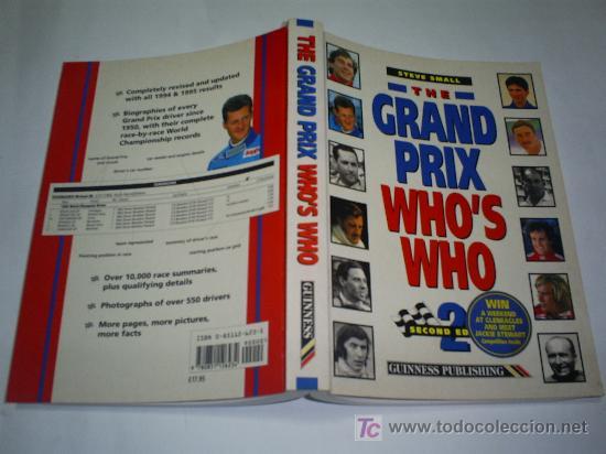 THE GRAND PRIX WHO'S WHO STEVE SMALL FORMULA 1 QUIEN ES QUIEN EN INGLÉS 1996 RM43996 (Coleccionismo Deportivo - Libros de Deportes - Otros)