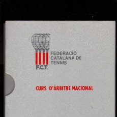 Coleccionismo deportivo: CURS D´ÀRBITRE NACIONAL DE TENNIS EDITADO POR LA FEDERACIÓ CATALANA DE TENNIS. Lote 23337625