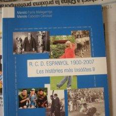 Coleccionismo deportivo: RCD ESPANYOL 1900-2007. Lote 26477096