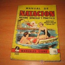 Coleccionismo deportivo: MANUAL DE NATACION METODO SENCILLO Y PRACTICO MANUALES CISNE AÑOS 50 . Lote 24176786