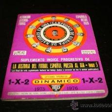 Coleccionismo deportivo: CALENDARIO DINAMICO TEMPORADA 75-76 (SUPLEMENTO). Lote 24360029