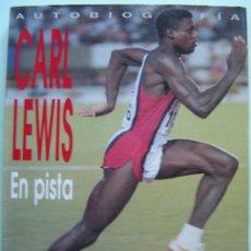 Coleccionismo deportivo: CARL LEWIS - EN PISTA - PRIMER PLANO - CON POSTER DEL CORREDOR. Lote 25083203