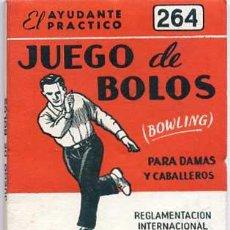 Coleccionismo deportivo: EL AYUDANTE PRÁCTICO : JUEGO DE BOLOS. Lote 25213230