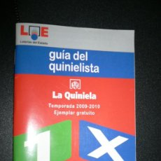 Coleccionismo deportivo: GUIA DEL QUINIELISTA. 2009-2010. LOE. Lote 27274138