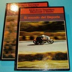Coleccionismo deportivo: EL MUNDO DEL DEPORTE. BIBLIOTECA TEMÁTICA MONTANER Y SIMÓN. 2 TOMOS. Lote 26513425