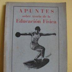 Coleccionismo deportivo: APUNTES SOBRE TEORIA DE LA EDUCACION FISICA. LEON 1953. Lote 26477942