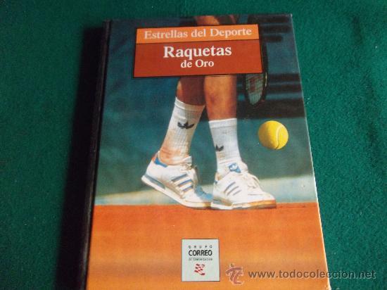ESTRELLAS DEL DEPORTE-RAQUETAS DE ORO-80 PAGINAS-280X220MM-1997-SANTANA-ORANTES-BORG-LENDL-ETC. (Coleccionismo Deportivo - Libros de Deportes - Otros)