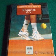 Coleccionismo deportivo: ESTRELLAS DEL DEPORTE-RAQUETAS DE ORO-80 PAGINAS-280X220MM-1997-SANTANA-ORANTES-BORG-LENDL-ETC.. Lote 27830032