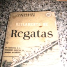 Coleccionismo deportivo: MINI LIBRO REGLAMENTO DE REGATAS - EL AYUDANTE PRACTICO Nº 225 - COSMOPOLITA - ARGENTINA - 1955. Lote 28053326