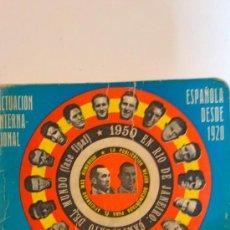 Coleccionismo deportivo: DINAMICO LIGA74-75.ACTUACION INTERNACIONAL ESPAÑOLA DESDE 1920. Lote 29409980