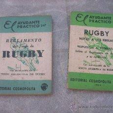 Coleccionismo deportivo: LOTE DE 2 MINI LIBROS DE RUGBY - EL AYUDANTE PRACTICO - NºS. 247/ 248 - ARGENTINA - 1959/ 1962. Lote 31308383