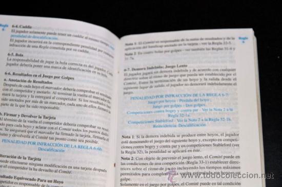 Coleccionismo deportivo: REGLAS DE GOLF - REAL FEDERACION ESPAÑOLA DE GOLF - 29 EDICION - Foto 3 - 32088422