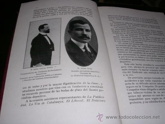 Coleccionismo deportivo: ALBUM DE LAS SOCIEDADES DEPORTIVAS DE BARCELONA 1916 POR EMILIO NAVARRO ILUSTRADO - Foto 3 - 33963883