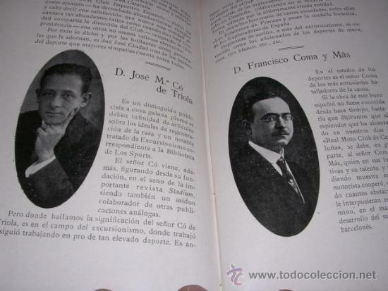Coleccionismo deportivo: ALBUM DE LAS SOCIEDADES DEPORTIVAS DE BARCELONA 1916 POR EMILIO NAVARRO ILUSTRADO - Foto 8 - 33963883