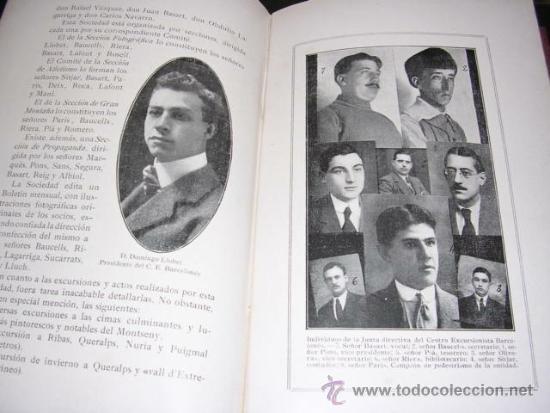 Coleccionismo deportivo: ALBUM DE LAS SOCIEDADES DEPORTIVAS DE BARCELONA 1916 POR EMILIO NAVARRO ILUSTRADO - Foto 9 - 33963883
