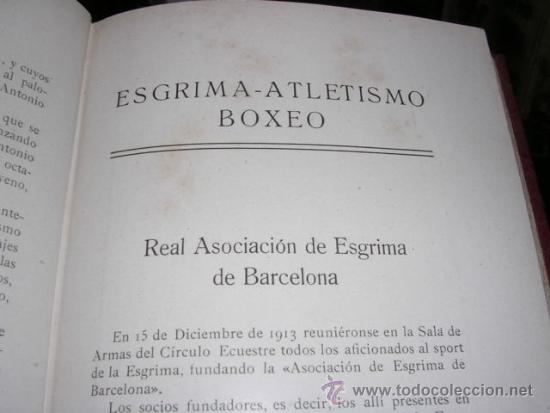 Coleccionismo deportivo: ALBUM DE LAS SOCIEDADES DEPORTIVAS DE BARCELONA 1916 POR EMILIO NAVARRO ILUSTRADO - Foto 13 - 33963883