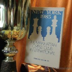 Coleccionismo deportivo: AJEDREZ. THE MANHATTAN CHESS CLUB INTERNATIONAL. NEW YORK 1985 - TIMOTHY TAYLOR. Lote 32520870