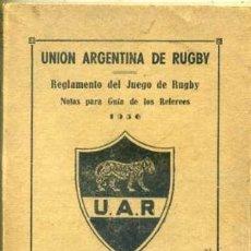 Coleccionismo deportivo: REGLAMENTO DEL JUEGO DE RUGBY (ARGENTINA, 1956). Lote 108239995
