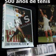 Coleccionismo deportivo: LIBRO WINSTON DEL TENIS 500 AÑOS DE HISTORIA - DEDICADO FIRMA POR ANDRÉS GIMENO - DEPORTE FOTOS JOYA. Lote 35356772