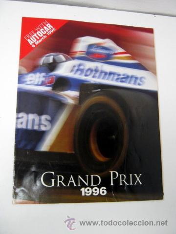 F1 - GRAND PRIX 1996 - FASCICULO DE REGALO DE AUTOCAR - 6 MARZO 1996 (Coleccionismo Deportivo - Libros de Deportes - Otros)