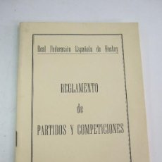 Coleccionismo deportivo: REGLAMENTO DE PARTIDOS Y COMPETICIONES - REAL FEDERACION ESPAÑOLA DE HOCKEY - 1970 - 34 PAGINAS. Lote 36682262