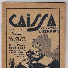 Coleccionismo deportivo: CAISSA REVISTA AJEDRECISTICA AÑO1 N.5 -BUENOS AIRES 1936. Lote 37449958