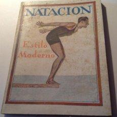 Coleccionismo deportivo: NATACION ESTILO MODERNO 1 EDICION J.YF. SINTES BARCELONA 1925. Lote 37770791