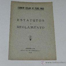 Coleccionismo deportivo: (M-3.7) PELOTA VASCA - FEDERACION CATALANA DE PELOTA VASCA, ESTATUTOS Y REGLAMENTO, BARCELONA 1925. Lote 37901268