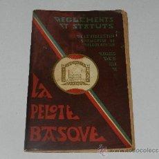 Coleccionismo deportivo: (M-3.7) PELOTA VASCA - REGLEMENTS ET STATUTS DE LA FEDERATION FRANCAISE DE PELOTE BASQUE. Lote 211676420