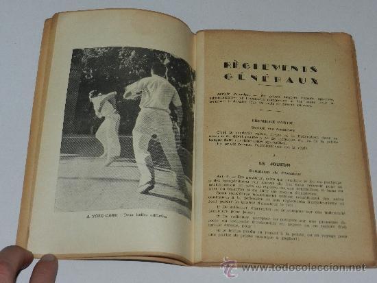 Coleccionismo deportivo: (M-3.7) PELOTA VASCA - REGLEMENTS ET STATUTS DE LA FEDERATION FRANCAISE DE PELOTE BASQUE - Foto 3 - 211676420